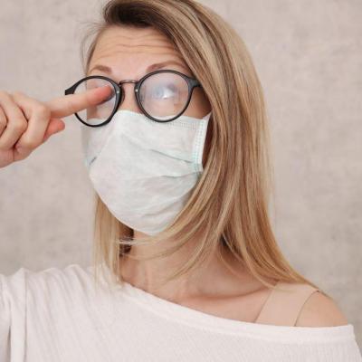 Masque lunettes et buée
